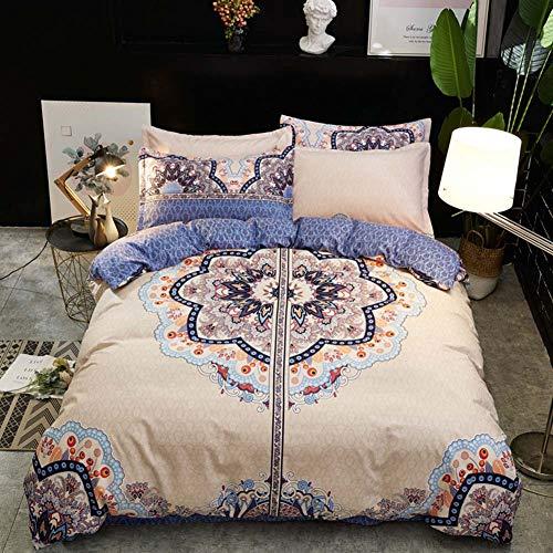 XIAO RUI Bettwäscheset 4tlg. Bettwäscheset Comfy Modern Fashion Floral Bettdecke Set-Queen,Twin-4pcs - Twin-bettdecken Sets