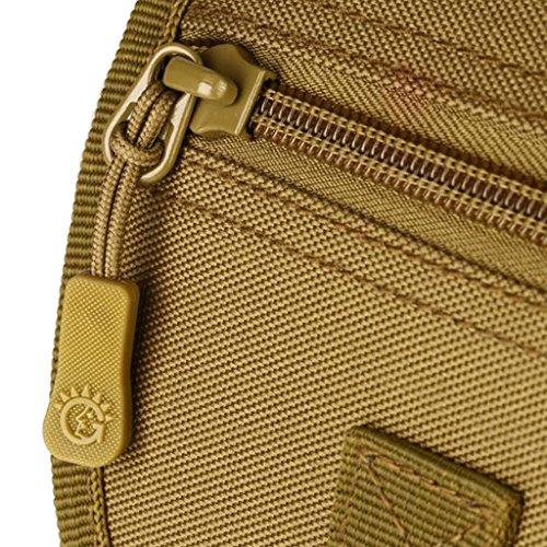 Sharplace Uomo Nylon Outdoor Marsupi da Escursionismo per Campeggio Coscia Drop Leg Borsa Moto Equitazione Cintura Escursioni in Bicicletta - #02 #01