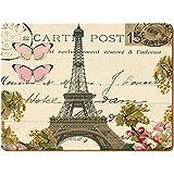 Creative Tops–Manteles individuales, reverso de corcho, tamaño grande, diseño de París, multicolor, 2unidades