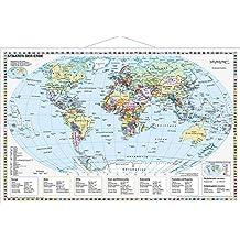 Staaten der Erde, politisch 1 : 40 000 000. Wandkarte Kleinformat mit Metallstäben