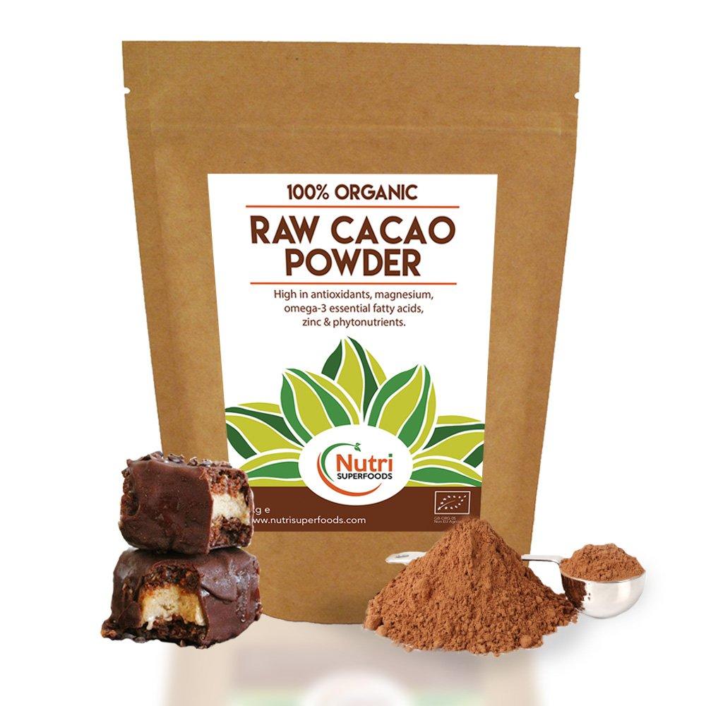 CACAO IN POLVERE CRUDO, prodotto nutriente di prima qualità, senza zuccheri, dal sapore perfetto per