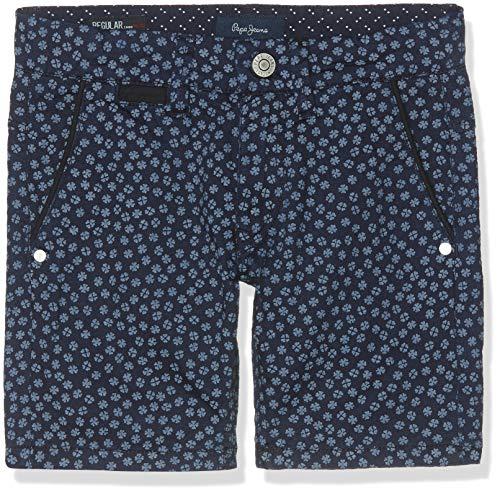Pepe jeans blueburn short clover pantaloncini da bagno, blu (indigo 561), 13-14 anni (taglia produttore: 14) bambino