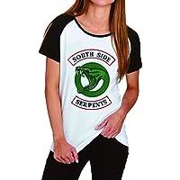 Riverdale T-Shirt Donna Ragazza Magliette Estate Camicia a Manica Corta Riverdale Southside Serpents Elegante Camicetta…