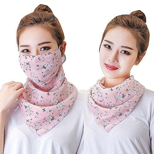 mädchen uv - masken für gesicht, hals, sonnenschutz gauzy maske, atmungsaktive anti - verschmutzung pollen stauballergie mund masken -