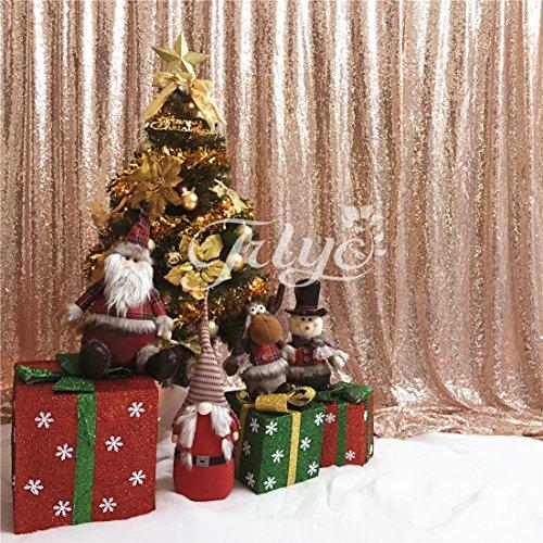 TRLYC 6ft Pailletten Foto Hintergrund Shimmer Hochzeit Hintergrund Fotografie, Sonstige, Rose Gold, 6ftx8ft