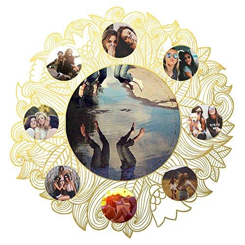 ArtzFolio AZ Floral Around Unframed Photo Collage Personalised Gift 30 x 30inch