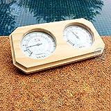 MKKSLR Igrometro termometro per Sauna a Doppio Tavolo, Accessori per Attrezzature da Piscina in Legno