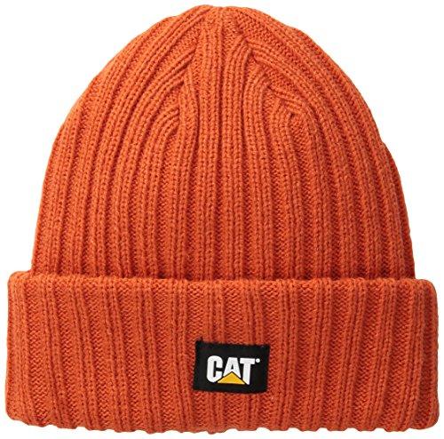 caterpillar-mens-rib-watch-cap-adobe-orange-one