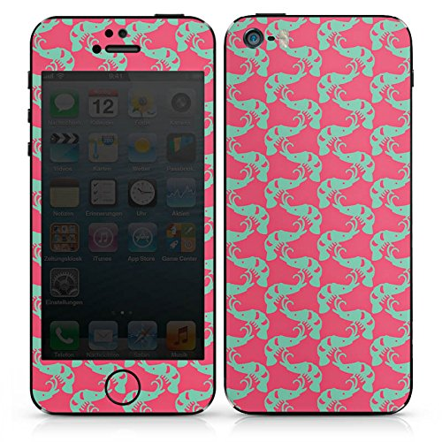 Apple iPhone SE Case Skin Sticker aus Vinyl-Folie Aufkleber Shrimps Meer Muster DesignSkins® glänzend