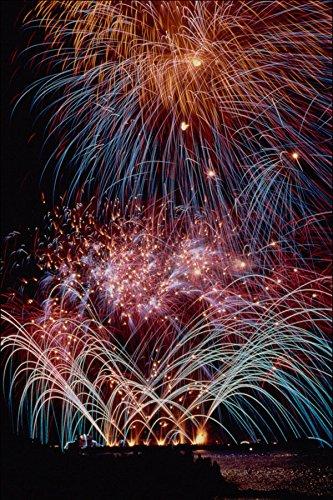 724031 Fireworks Toronto Ontario Canada A4 Photo Poster Print 10x8