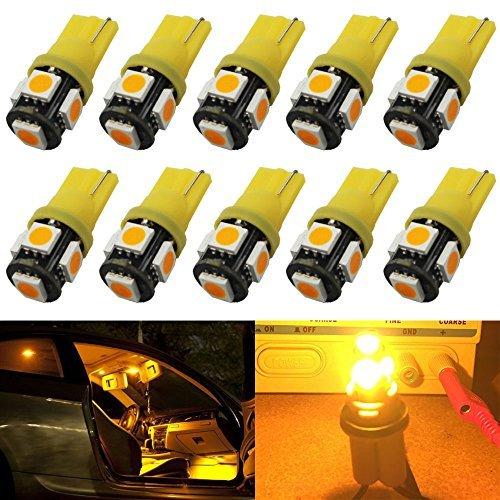 10-pack-newest6th-generation-194-t10-168-2825-w5w-158-super-bright-amber-yellow-led-light-amazenar-5