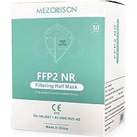 MEZORRISON - Mascherina FFP2 NR - 50 Mascherine - MZC-KZ - Certificata EN 149:2001 + A1:2009 - CE 0370 - Confezionate in…