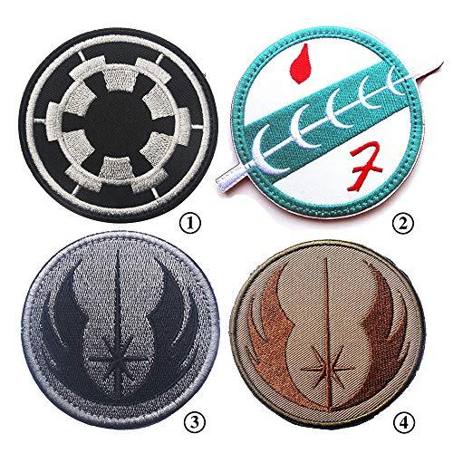 Sticker 4 STÜCKE Kopfgeldjäger Boba Fett DIY Applique Bestickt Nähen Eisen Auf Flecken Für Jeans Jacke Kleidung Handtasche Schuhe Caps ( Color : Multi-colored , Size : Free size ) ()