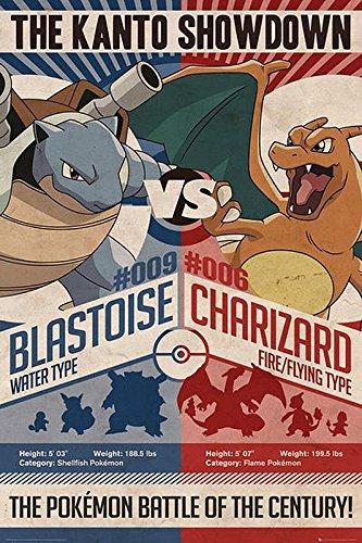 Póster Pokémon - Red vs. Blue (61cm x 91,5cm) + embalaje para regalo