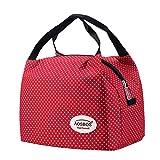 Aosbos Leichte Kühltasche Lunch Tasche Isoliertasche zur Arbeit und Schule gehen 6 Liter, 24,1 x 15,2 x 17,11 cm (Rot)