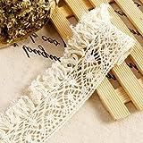 Vintage algodón boda cinta Applique Tira de encaje diy costura Craft