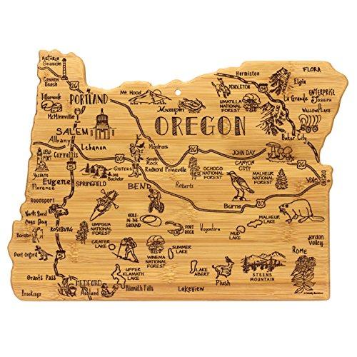 Totally Bamboo Oregon State Destination Bambus Servieren und Schneidebrett (Bamboo-schneidbrett Totally)