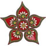 [Sponsored]Decoration Craft 10 Sets Of Acrylic Rangolis (16 CM X 16 CM Every Rangoli )