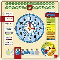 Goula - Reloj y calendario en catalán, material educativo (Diset 51306)