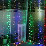 Glighone LED Lichterkette Vorhang Wasserfall RGB Lichtervorhang String Licht Sternenlicht