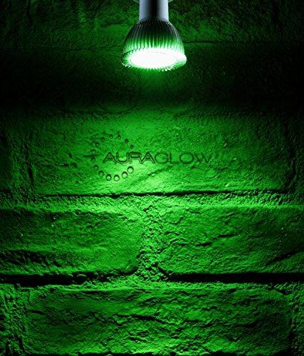 Auraglow Farbige LED GU10 Deckenfluter Spotlight-Glühlampe, Grün