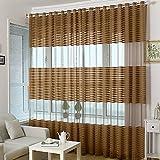 AIHOME, tenda mantovana in voile, per porte e finestre di camera da letto, soggiorno, bagno, finestra, dimensioni: 1 x 2,7m Coffee