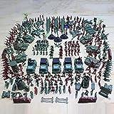 307 Soldados de juguete de plástico Soldados de juguete Juguetes del ejército para niños Plástico verde tradicional para los juegos de guerra del ejército Militar Juego de combate del ejército