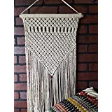 Ivory Wall Decor Macrame Handmade Home Room Office Decor Tapestry Woven Art Macrame Wall Macrame By Handicraft-Palace