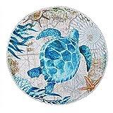 Sonnena Serviette Plage Ronde Mandala Épaisse Tapisserie Coton avec Frange Ultra-épais Mat Yoga Hippie Tapis Beach Ete Cadeau Tapis De Yoga De Plage Rond Châle