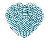Jimmy Crystal Blau versilbertes Herz-Spiegel