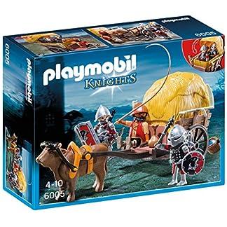 PLAYMOBIL Caballeros – Playset con Figuras del halcón con carruaje de Camuflaje (6005)