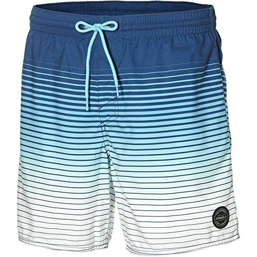 O'Neill Herren Long Beach Shorts Bademode Badeshorts, AOP W/Blue, S