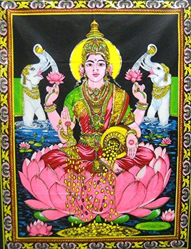 goddess-lakshmi-goddess-of-wealth-hindu-god-colorful-batik-wall-hanging-40-x-30
