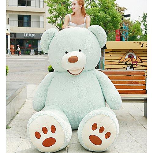 VERCART Groß Teddybär Spielzeug Kuscheltier Gigantischer Puppe Weiches Plüsch als Geschenk Geburtstagsgeschenk zur Dekoration Erwachsene Kinder Blau 160CM
