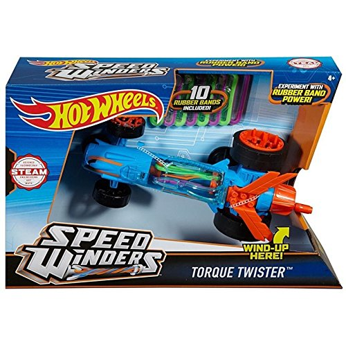 Hot Wheels Speed Winders: Torque Twister - Blue (Dpb64) - Direct-drive-band