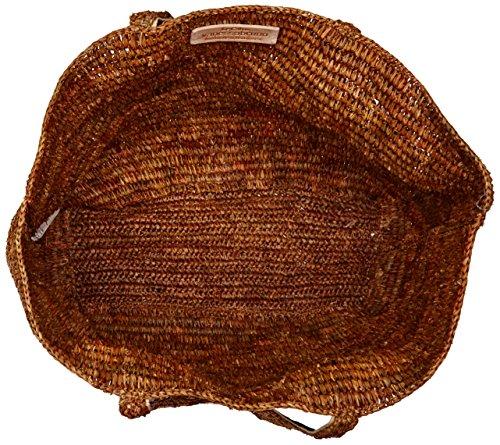 Vanessa Bruno Damen Cabas Medium + Tote Raphia Et Paillettes, 17x36x51 Centimetri Braun (miel)