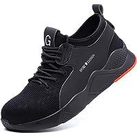Chaussures de Securité Homme Femme léger Baskets de Sécurité Respirant Chaussures de Travail Embout Acier Protection…