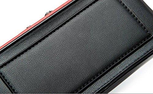 Sacchetto di estate, versione coreana del sacchetto di spalla, mini zaino obliquo, borse della catena selvaggia di modo ( Colore : Rosso ) Nero