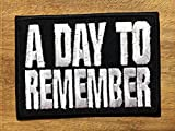 A DAY TO REMEMBER Embroidered Iron On Patch/Embroidery Sewing Patch by GadgetsGlobal (Free Gift Heart Patch)