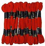 25 x Anchor Muliné punto de cruz bordado a mano hilo hilo dental madejas-Rojo