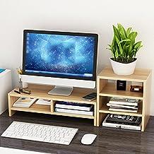 SUPPORT Computer Monitor / TV / Drucker Widescreen-Hebebühne, Holz-Paneele, Desktop Storage Finishing Rack A++ ( Farbe : 1# )