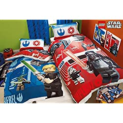 Lego Star Wars Battle Single Duvet Cover Polycotton Bed Set Reversible Panel