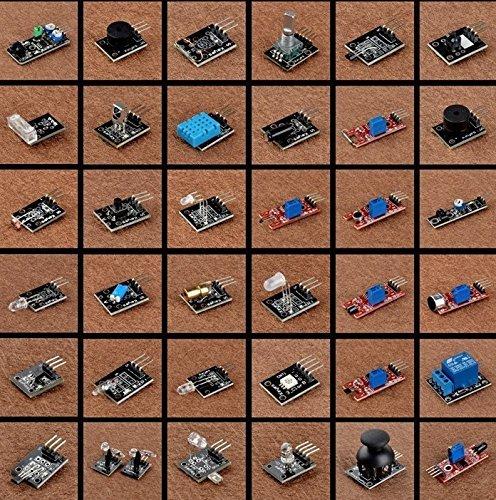 61Mc0hWfU7L - Kumán Completo 37 en 1 Módulo Sensor Proyectos para Starter Kit para Arduino Uno Raspberry Pi Mega 2560 K5
