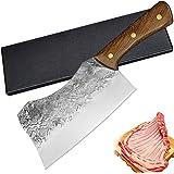 Couteaux Cuisine - Chinese Cleaver -Couteau de Boucher Lame Fortement Épaissie Pour Casser les Os, Hache de Boucher en Acier
