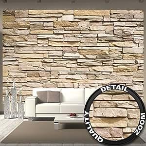 fototapete steinoptik 3d wandbild dekoration stein tapete mauer wandverkleidung steinwand. Black Bedroom Furniture Sets. Home Design Ideas