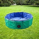 YAOBLUESEA Hundepool Doggy Pool Faltbarer Hunde Planschbecken Badewanne Pool in