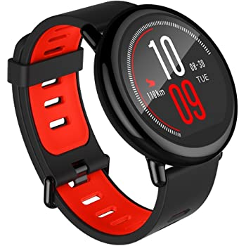 Amazfit Pace Gps Running Smartwatch, 5 Days Battery Life (Red Band)