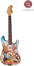 Shoponica Holz Miniatur-Gitarre Replica–Iron Maiden Trooper Tribute