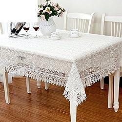 Cristal fresco hilo bordado manteles/ paño de mesa de estilo europeo/Pastoral de encaje mantel/ paño de mesa minimalista moderna-A 60x120cm(24x47inch)
