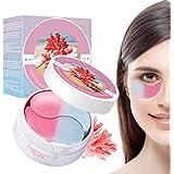 Eye Mask, Máscara para los Ojos, Ojos Parches, Mascarilla Calmante Coral para Ojos,Alivia el Cansancio y Reafirma la Piel-Par